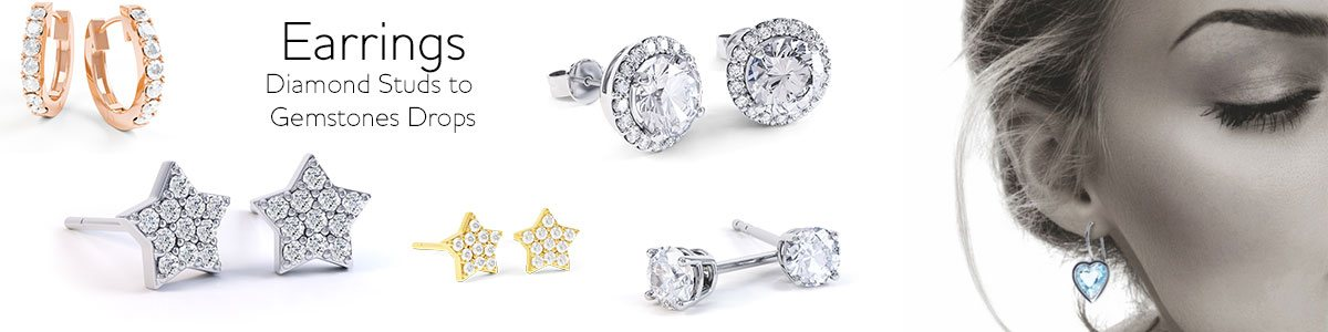 Earrings - from Diamond studs to gemstone drops