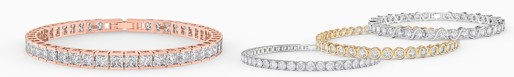 Bracelets for everyone - from precious gemstones to Diamonds. From Silver to 18ct Gold.