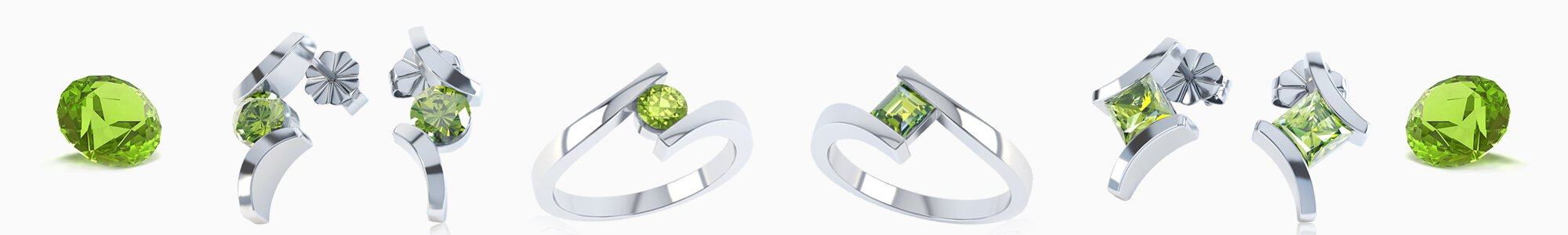 Peridot Jewellery - Wide Selection of Peridot Earrings, Pendants, Engagement Rings, Bracelets and Necklaces