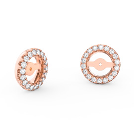 Fusion Moissanite 18ct Rose Gold Earring Halo Jackets