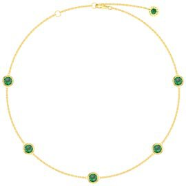 Emerald By the Yard 18ct Gold Vermeil Choker Necklace
