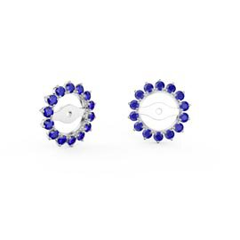 Fusion Sapphire 18ct White Gold Gemburst Halo Earring Jackets