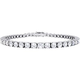 Eternity White Sapphire 18ct White Gold Tennis Bracelet