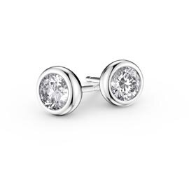 Infinity Moissanite 18ct White Gold Stud Earrings
