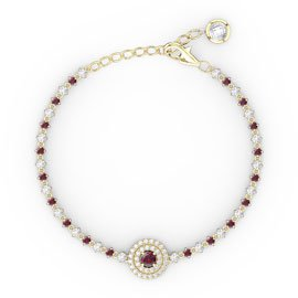 Fusion Ruby 18ct Gold Vermeil Tennis Bracelet
