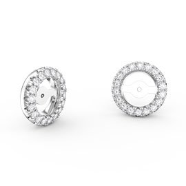 Fusion Moissanite 18ct White Gold Earring Halo Jackets