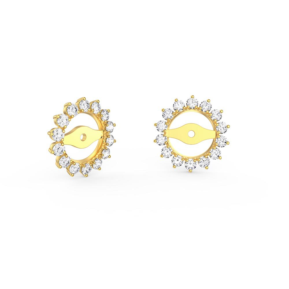 Fusion Diamond 18ct Yellow Gold Earring Starburst Halo Jackets