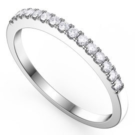 Diamond 18ct White Gold Half Eternity Ring